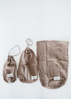 Zero Waste Organic Cotton All Purpose Bag in Clay from The Organic Company