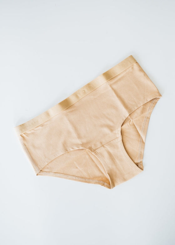 Almond Nude Organic Cotton Underwear Low Rise Shorts from People Tree