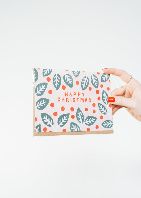 Happy Christmas 100% Recycled Paper Greeting Card from Jade Fisher
