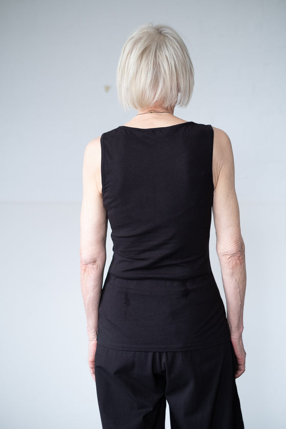 Black Lizzie Vest Top