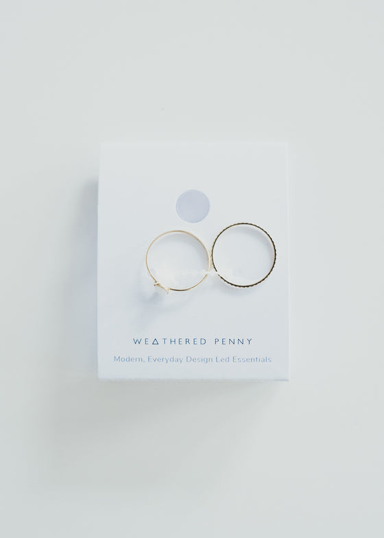 Ethically Handmade Stone Set Rings in Gold from A Weathered Penny