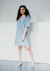 Natural Hemp Mabal Nightie Lounge Wear in Sea Glass Blue from Thought