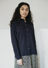 Natural Viscose Pihlaa Shirt in Night Sky Navy Blue from Armedangels