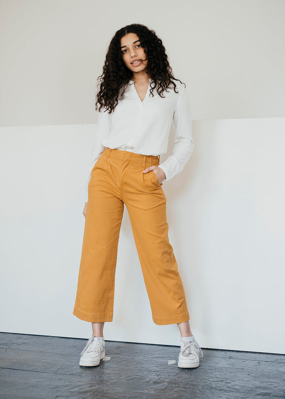 Justina Trousers in Saffron