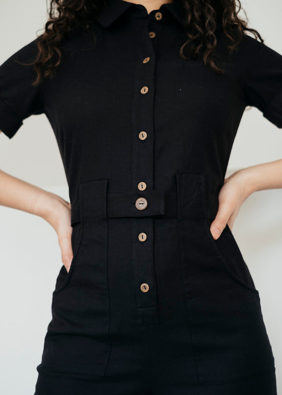 Devon Jumpsuit in Black