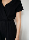 Evelyn Culotte Jumpsuit in Black