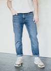 100% Organic Cotton Dylaan Jeans in Used Blue from Armedangels