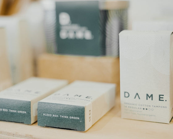 100% Biodegradable Organic Cotton Tampons from Dame