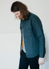 Pine Long Sleeve Quilted Overshirt in Pineneedle