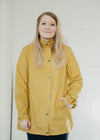 Kesha 100% Organic Cotton Raincoat Jacket in Mustard Yellow from Thought