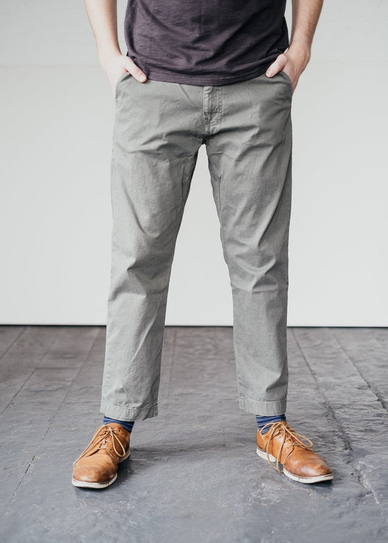 Organic Cotton Kaspaar Chino Trouser in Iron Grey from Armedangels
