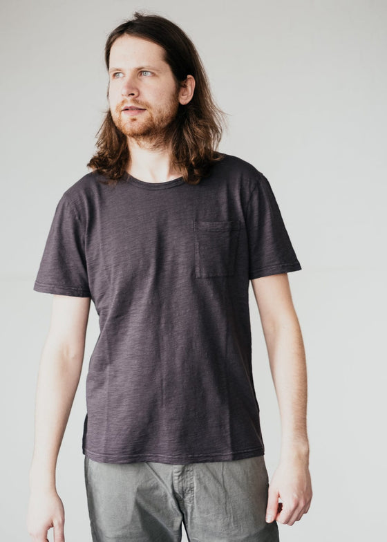 Organic Cotton Paaul Pocket T-shirt in Acid Black from Armedangels