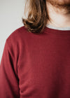 Rise Sweater in Maroon Red
