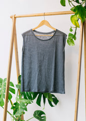 She Sparkles Linen Grey-T-shirt-Sancho's Dress