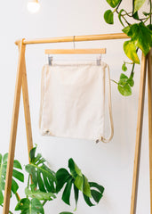 Plastic Free Gym Bag - Natural-Bag-Sancho's Dress