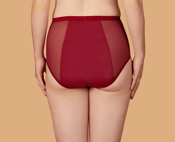 THINX Hi-Waist Briefs in Crimson