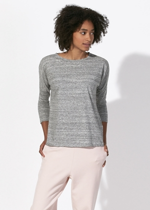 She Turns Slub - Light Grey-Women top-Sancho's Dress