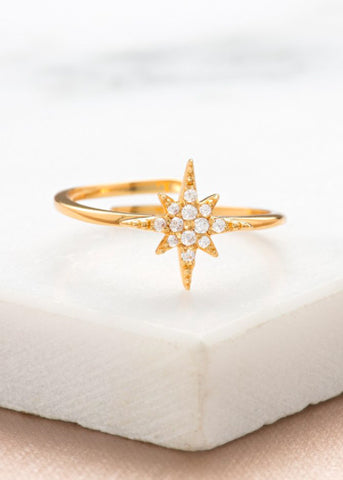 Starburst Ring (Gold or Silver)-Rings-Sancho's Dress