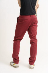 Men's Chino Red-Trousers-Sancho's Dress
