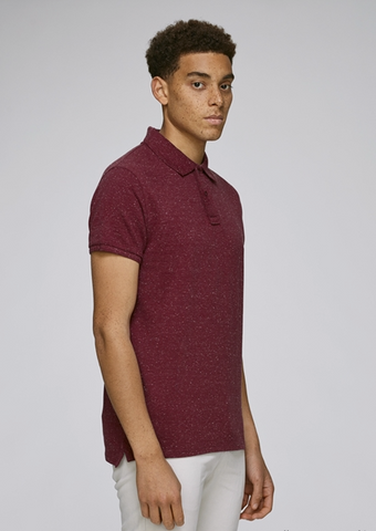 He Performs - Dark Heather Burgundy-Polo T-Shirt-Sancho's Dress