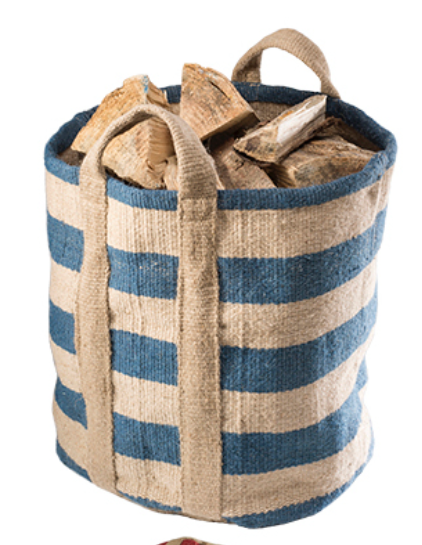 Handloom Striped Jute Bag-Bag-Sancho's Dress