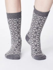 Viridian Wool Socks - Grey-Socks-Sancho's Dress
