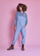 Organic Originals in Smoke Blue-Dungarees-Sancho's Dress