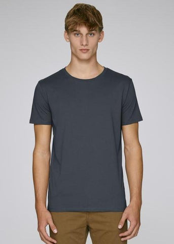 He Leads in India Ink Grey-T-shirt-Sancho's Dress