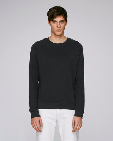 He Seeks Cosy in Black-Sweatshirt-Sancho's Dress