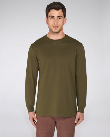 He Shifts Dry in British Khaki-LS T-Shirt-Sancho's Dress