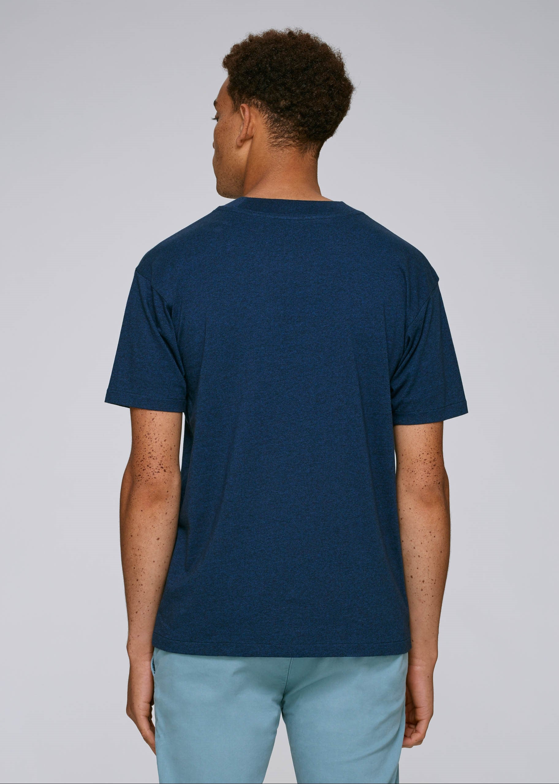 He Trims - Black Heather Blue-T-Shirt-Sancho's Dress