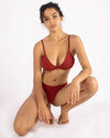 Stella Low Cut Bra in Cherry