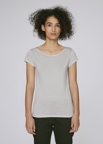 She Glows Modal Grey Violet-T-shirt-Sancho's Dress