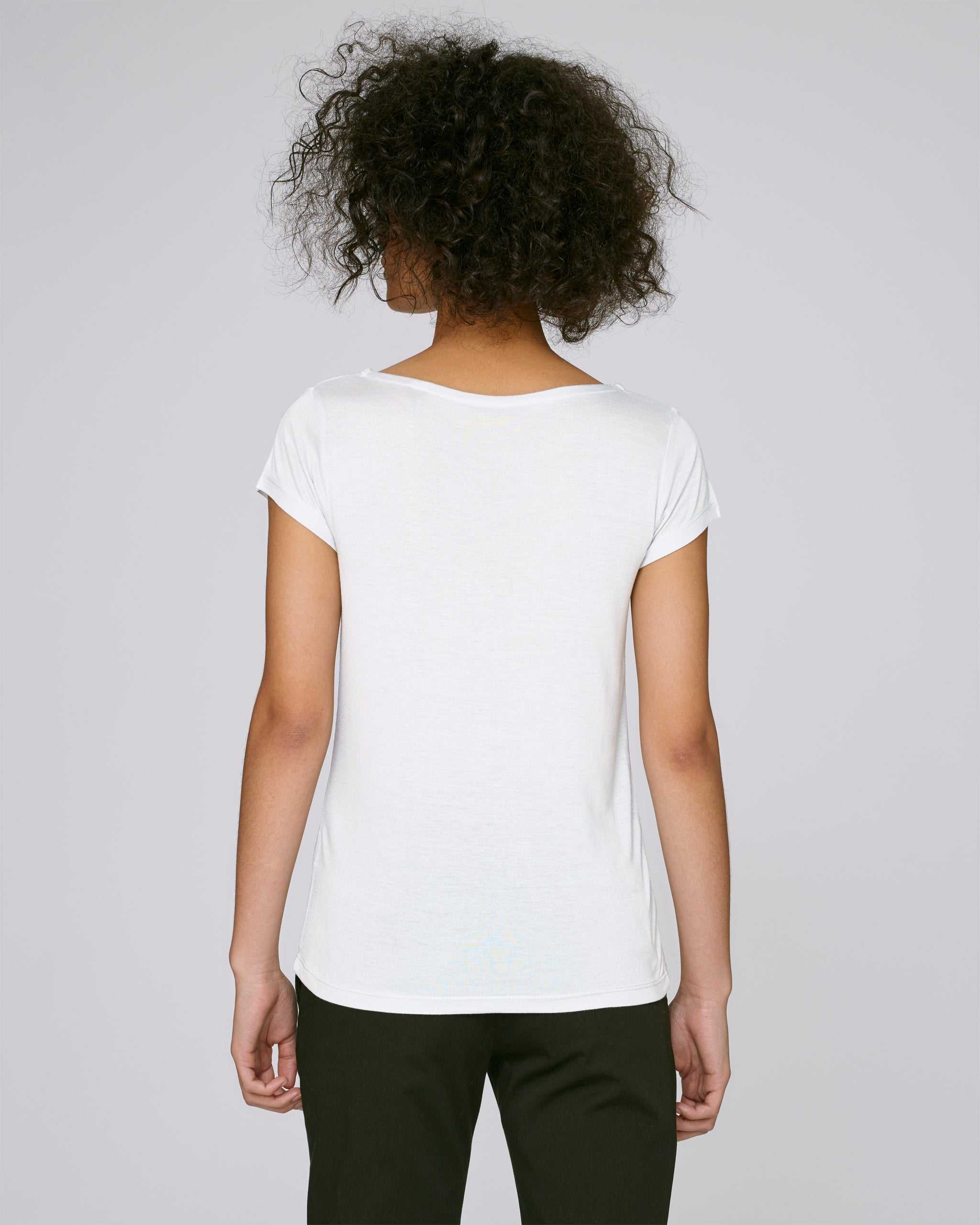 She Glows Modal White-T-shirt-Sancho's Dress
