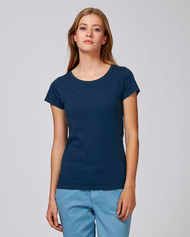 She Wants Black Heather Blue-T-shirt-Sancho's Dress