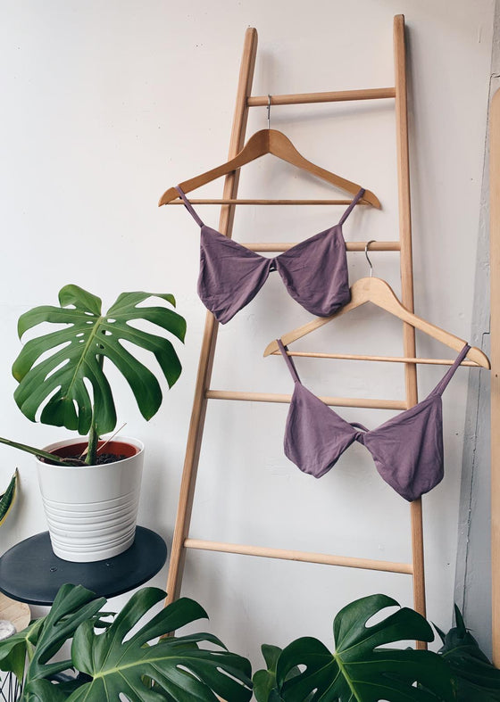 The Bamboo Hara Mauve Bra Set at Sancho's in Exeter, UK