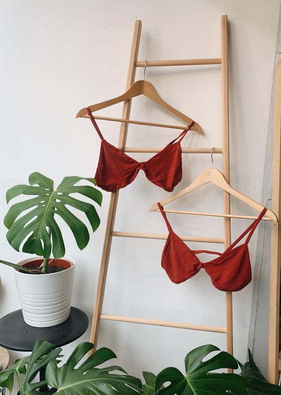 The Bamboo Hara Cherry Red Bra Set at Sancho's in Exeter, UK