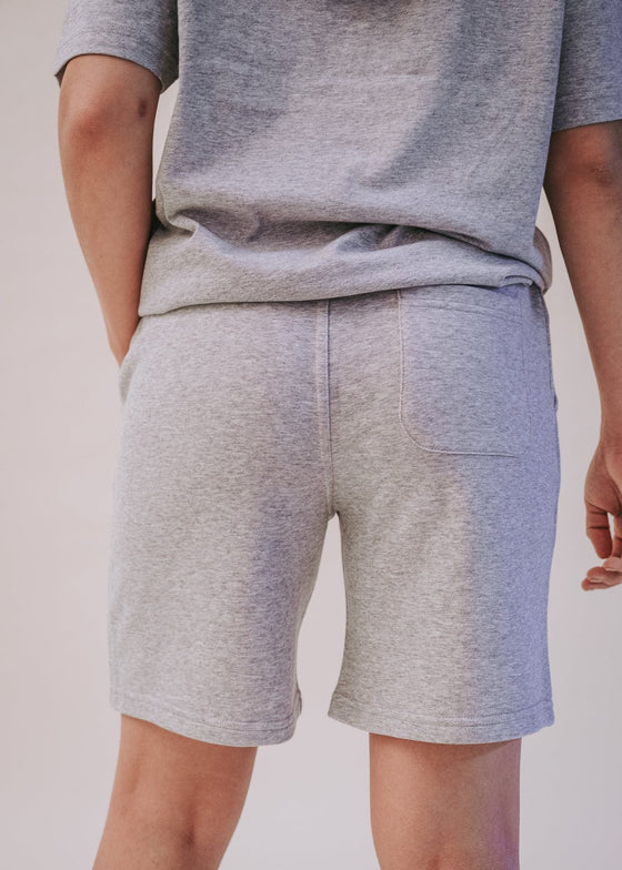 90's Jogger Shorts in Heather Grey