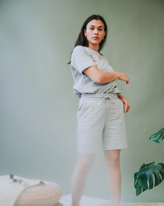 The Comfort Capsule in Grey with Shorts