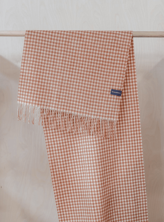 Oversized Scarf in Cinnamon Gingham