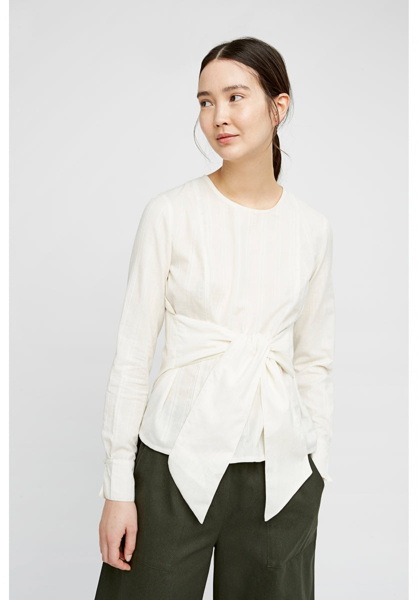 Evangeline Shirt in White-Shirt-Sancho's Dress
