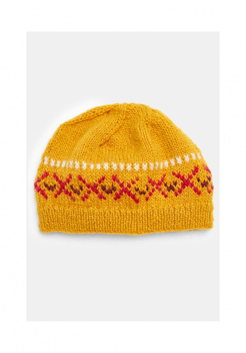 Fairisle Hat in Yellow-Hat-Sancho's Dress
