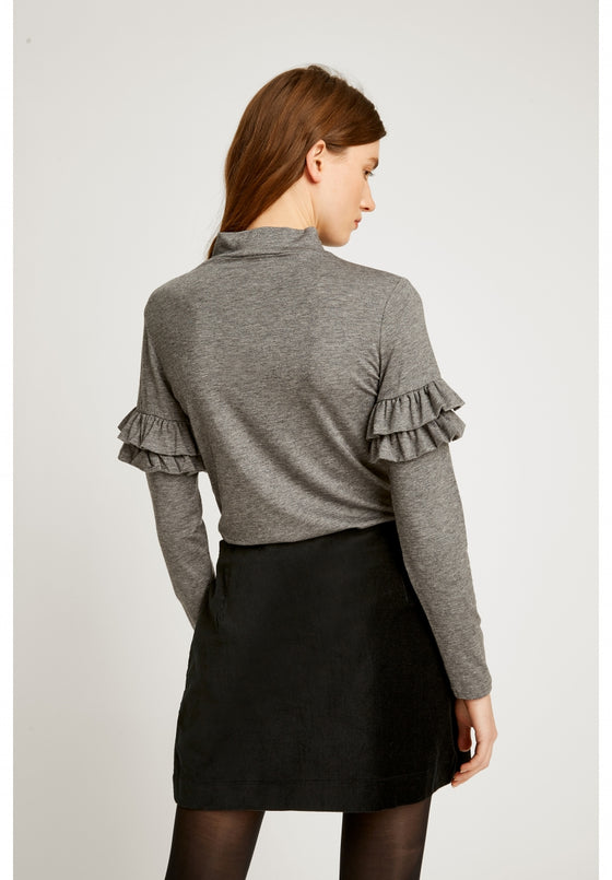 Cecilia Top in Grey Melange-Top-Sancho's Dress