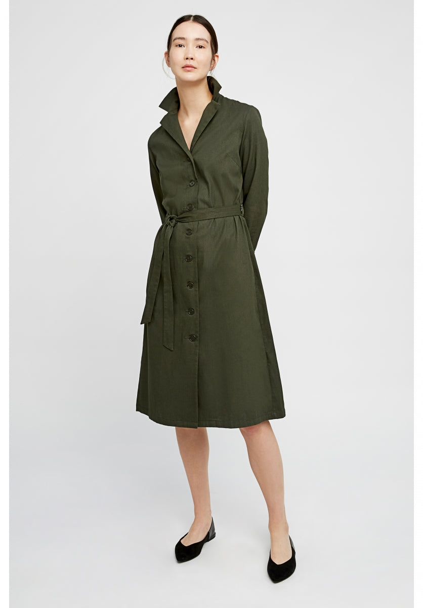Tia Coat Dress in Khaki-Coat-Sancho's Dress