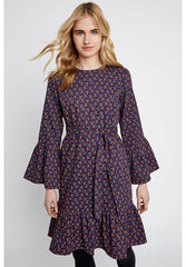 Nanette Squirrel Dress in Navy-Dress-Sancho's Dress