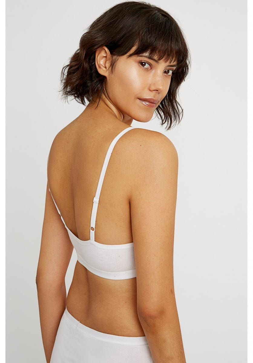 White Soft Bra Top-Underwear-Sancho's Dress