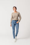 Ethical High-waisted Super Skinny Organic Cotton Jeans in Mid Wash from United Change Makers
