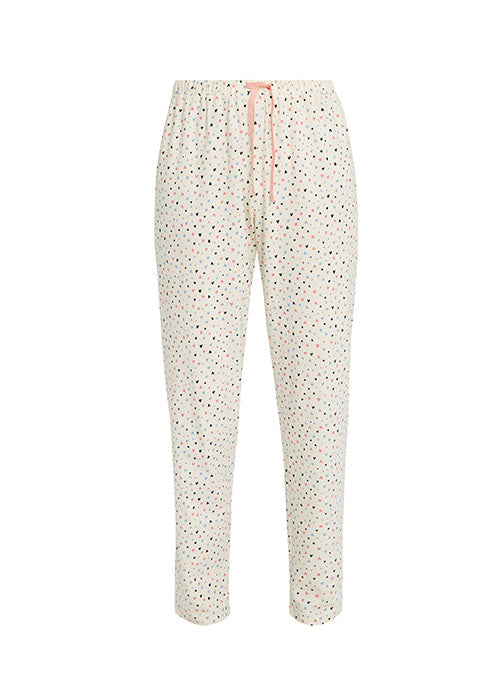 Heart Print Pyjama Trousers-Nightwear-Sancho's Dress