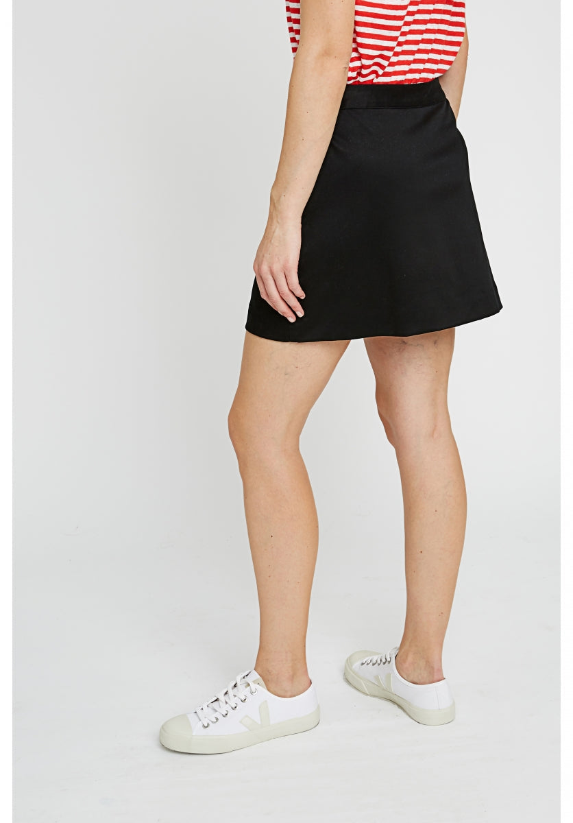 Abby Mini Skirt in Black-Skirt-Sancho's Dress