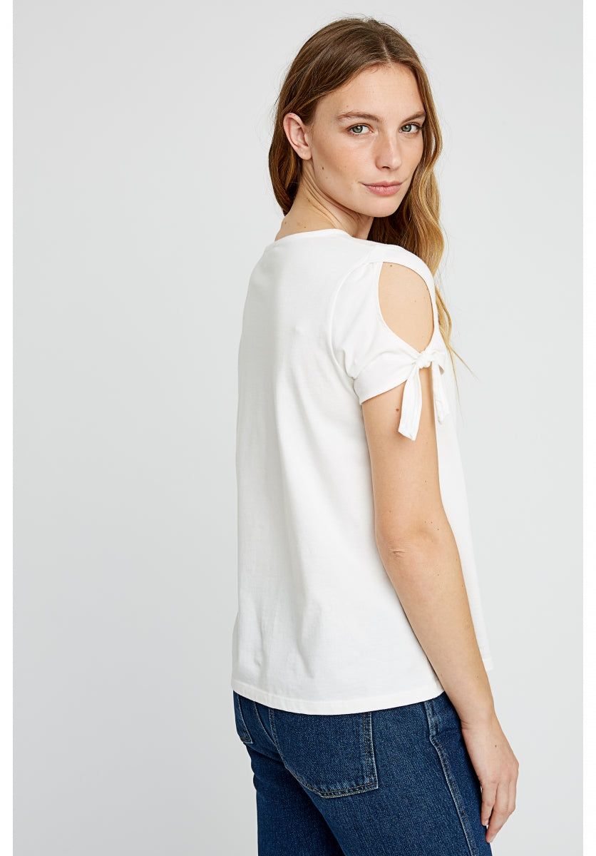 Emery Top in White-Top-Sancho's Dress